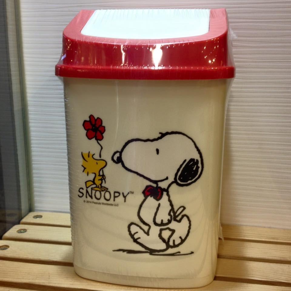 阿虎會社~A 734 ~史努比 史努比史奴比塔克snoopy 方型垃圾桶置物筒桌上型車用紅