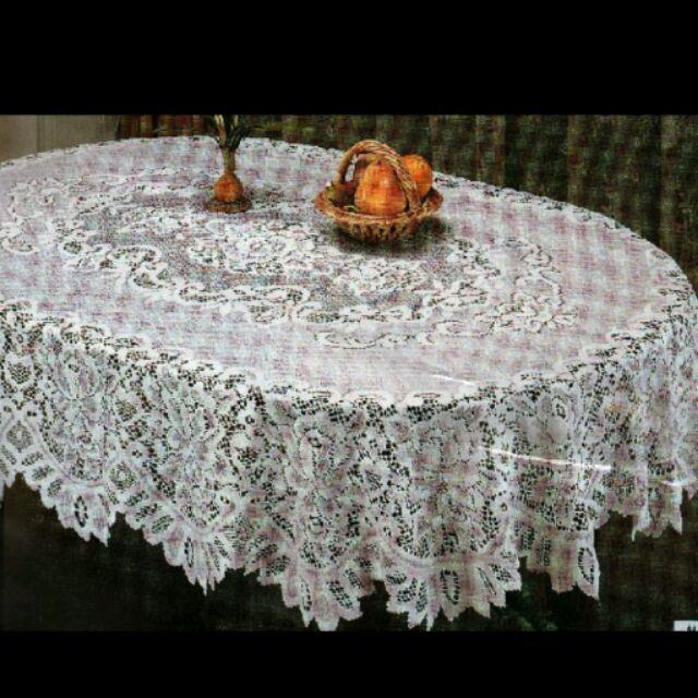 淇淇的賣場 歐式格蘭紗桌巾135 180cm 橢圓形蕾絲桌巾,會議桌巾,多用途蓋巾