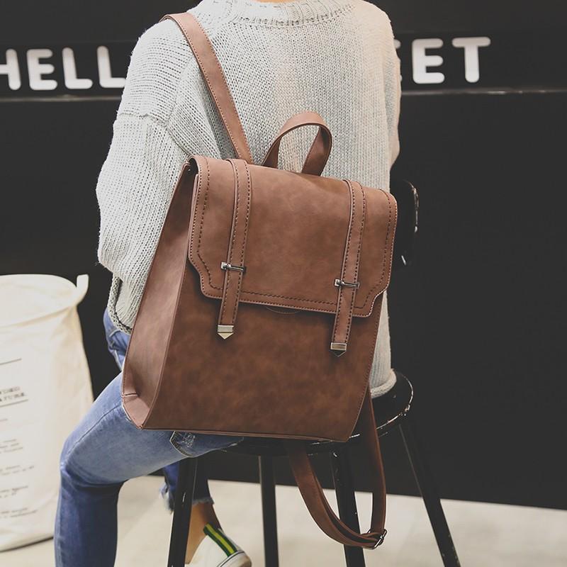 雙肩包女 包包2016 潮pu 簡約百搭背包學院風學生書包女背包街頭潮流電腦包書包後背包肩