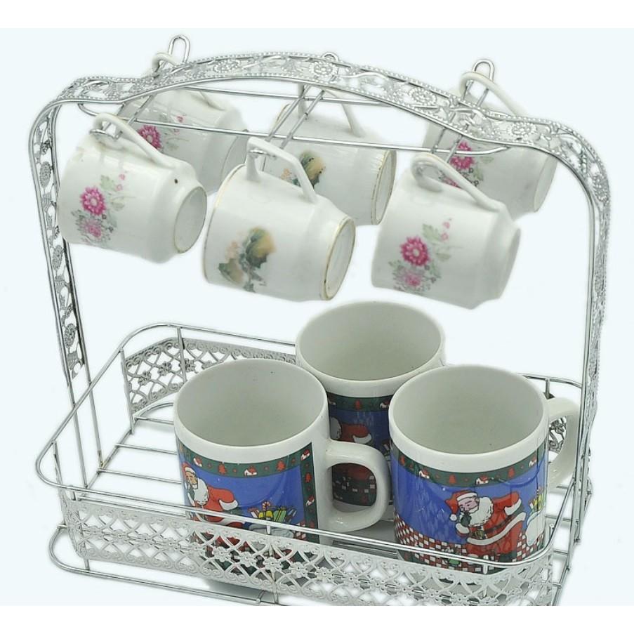 水杯架掛籃子茶杯子收納紅酒架咖啡杯架復古歐式杯架