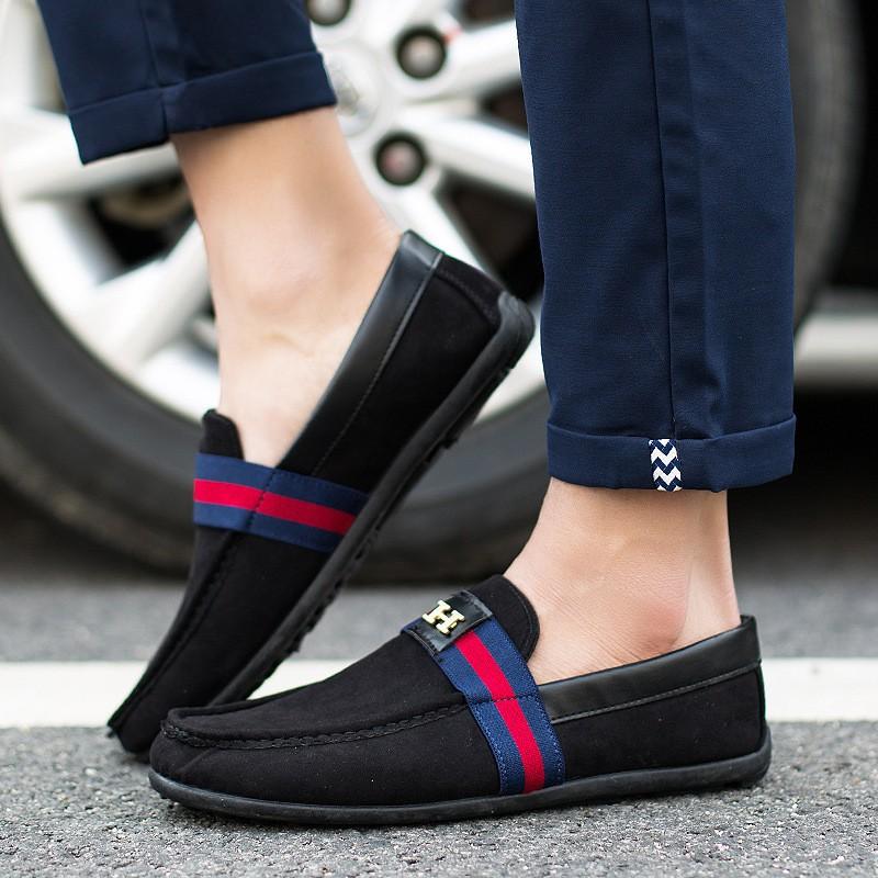 豆豆鞋透氣男鞋 男士套腳鞋駕車鞋男單鞋026