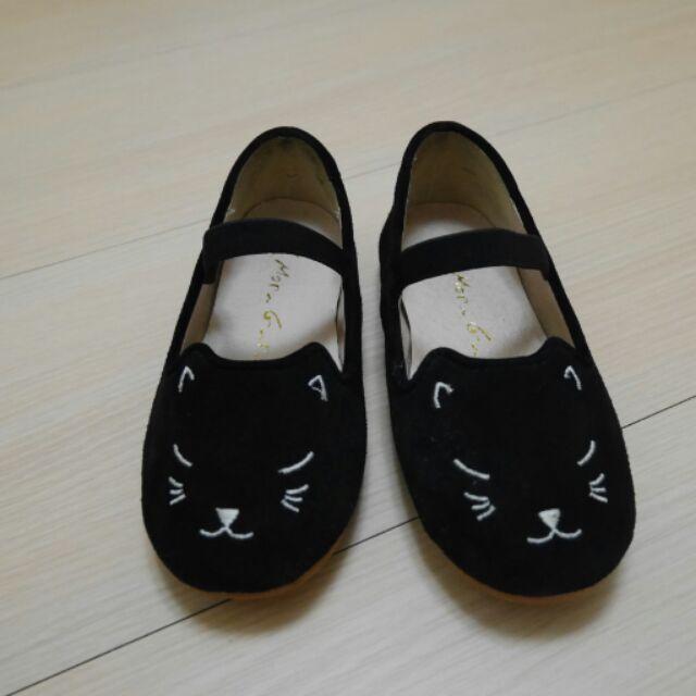 Mori girl Baby 童鞋可愛蘿莉電繡貓咪全真皮娃娃18 5