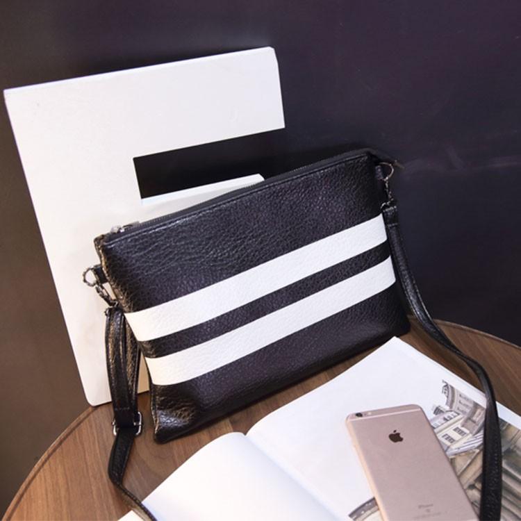❤  奈兒風向標~黑白條紋包包大牌范 單肩包斑馬紋斜挎包證件包手機包
