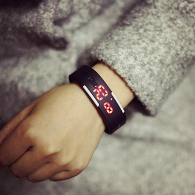 ~~ 風~~ 原宿復古風潮流 韓國果凍女中學生情侶男手環LED 電子手表手錶 手錶女生 男