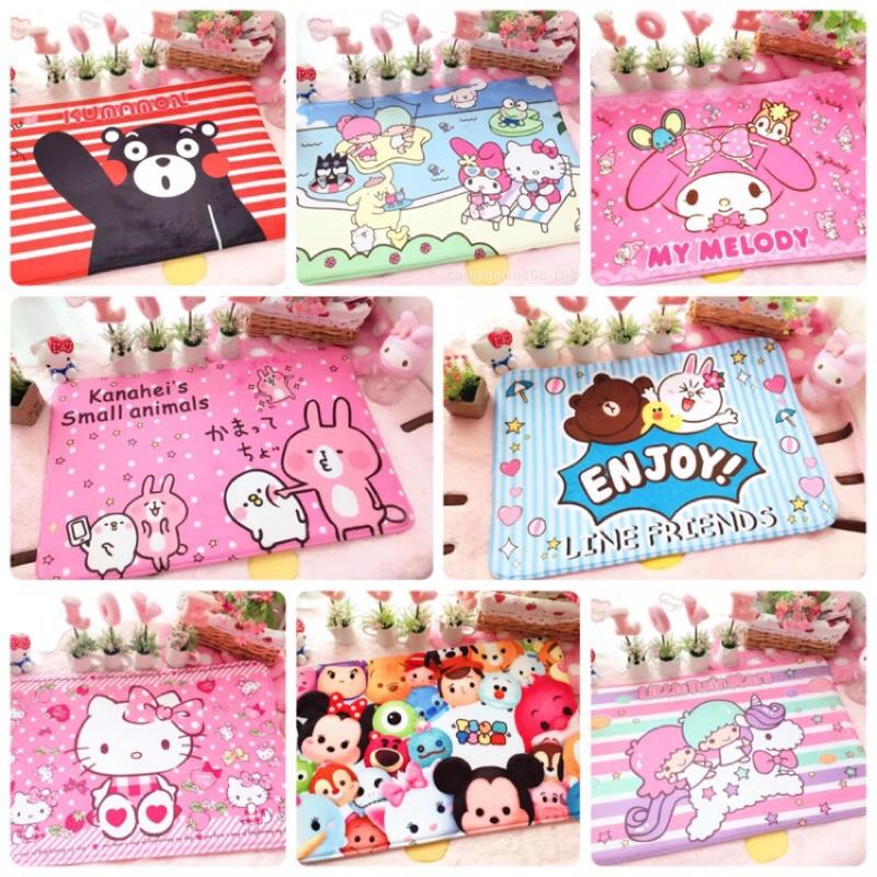 當天出‼️ 卡通可愛地墊地毯浴室客廳裝飾熊本熊卡娜赫拉美樂蒂迪士尼熊大kitty