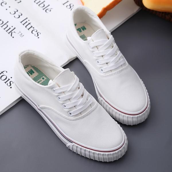 女款 帆布鞋平底鞋休閒鞋小白鞋