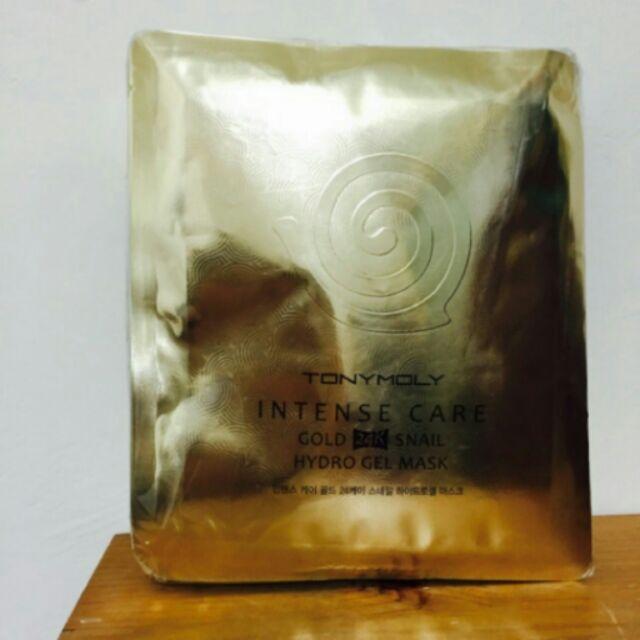 韓國帶回第 TONYMOLY 24K 黃金蝸牛面膜n 效果超強的兩片式果凍凝膠面膜