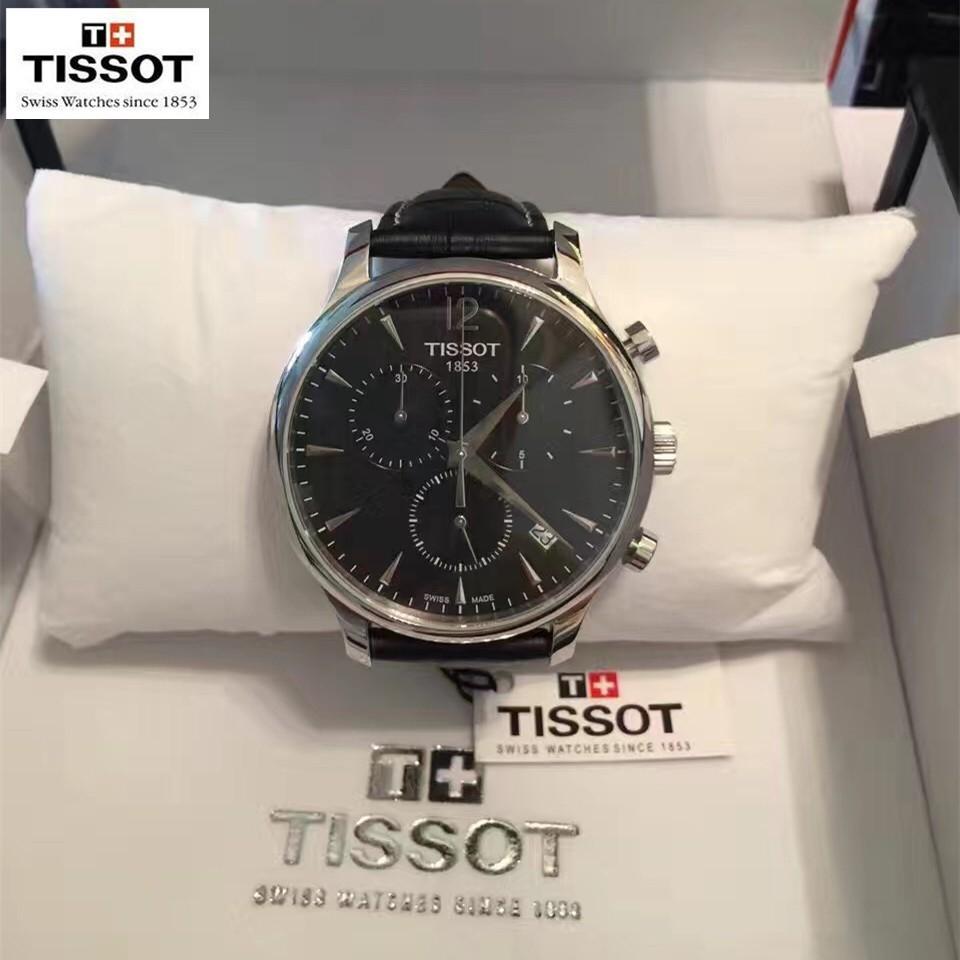 ~R A 小店~TISSOT 天梭手錶俊雅系列石英男錶皮帶款商務休閒男士腕錶T063 61
