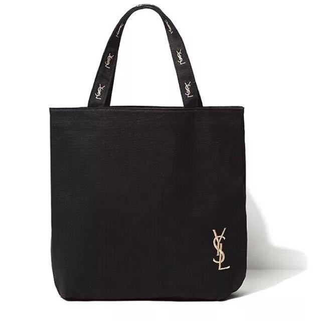 雜誌YSL 贈品帆布包刺繡單肩手提包手提袋agnes b vivi 日雜揭載snidel