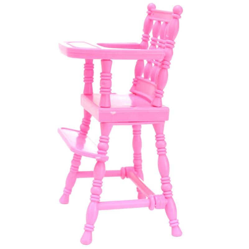 可愛粉紅色芭比Kelly 娃娃 高椅子