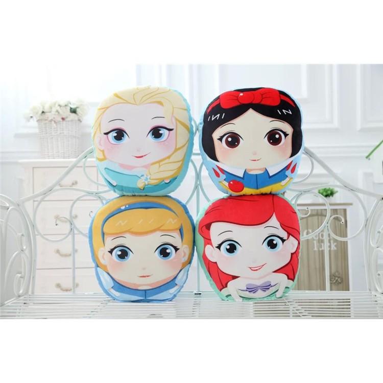 迪士尼公主毛絨抱枕可愛美人魚白雪公主靠墊