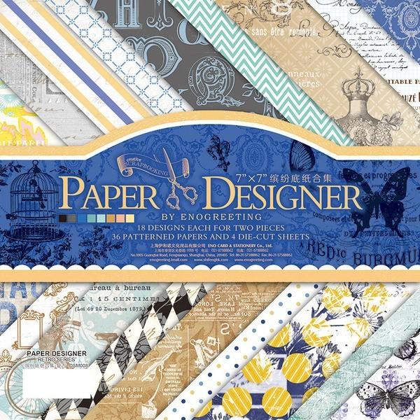 剪貼本裝飾DIY 相冊背景紙 折紙藝術紙A 款18 款各2 張合集36 張130 元17