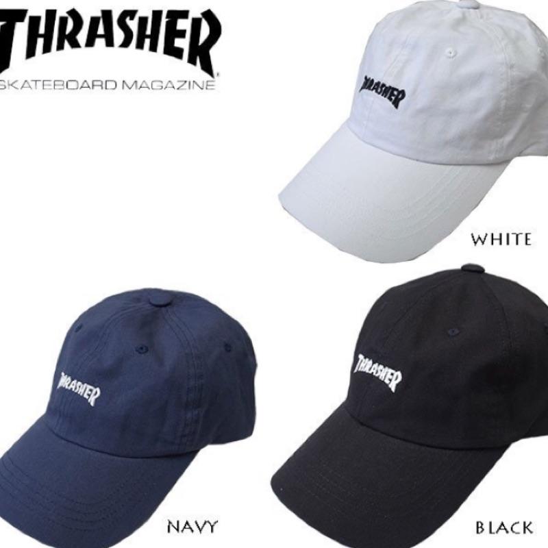 Mars  超搶手日版THRASHER logo 6 panel cap 老帽