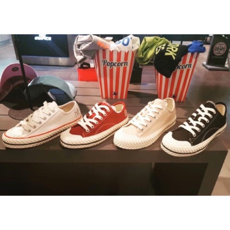 MLB餅乾鞋 LA 奶茶色 餅乾鞋 MLB 老式帆布鞋 厚底帆布鞋 NY 休閒鞋 韓國代購