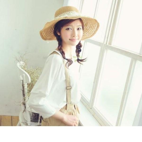 韓系最愛蝴蝶結帽子蕾絲花朵沙灘大草帽遮陽帽漁夫帽海洋音樂季