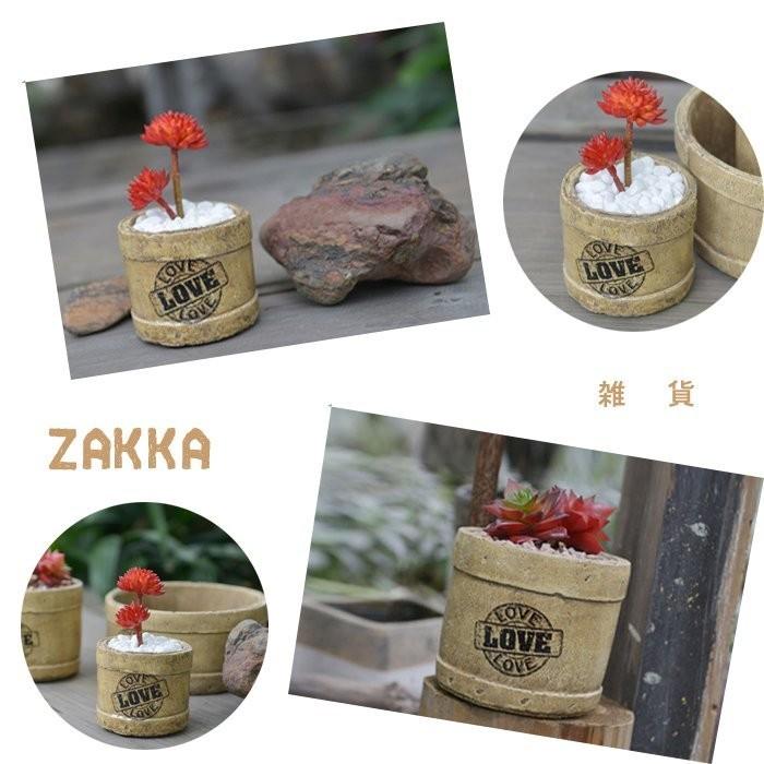 花盆多肉植物盆栽餐廳裝飾LOVE 花器陶瓷咖啡店 種花開店裝潢花瓶小盆栽小號~BWQ 32