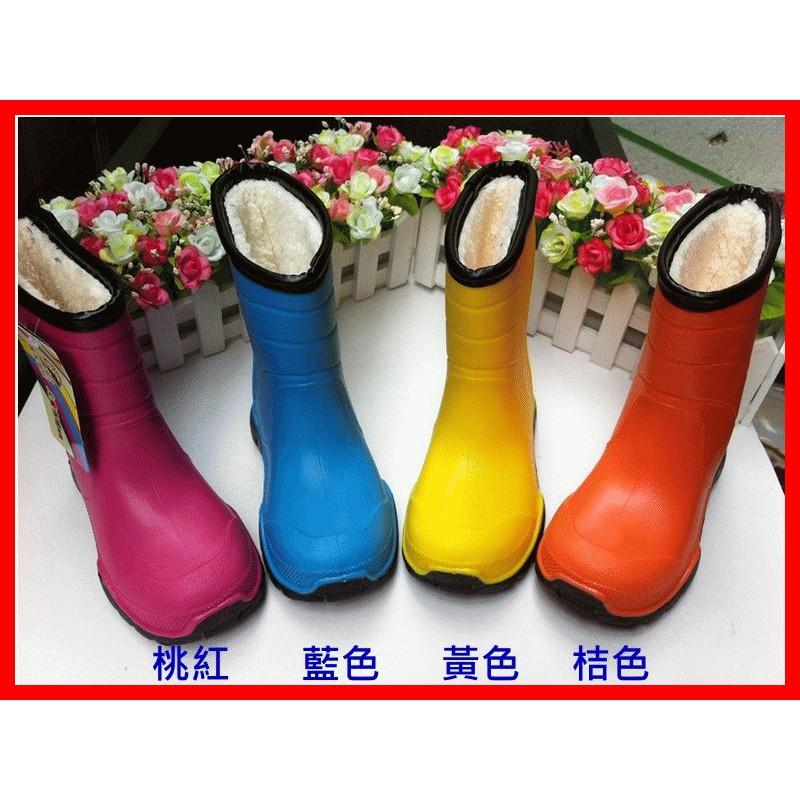 廠商直銷高檔兒童雨鞋中筒兒童雨鞋防滑保暖加棉內裡