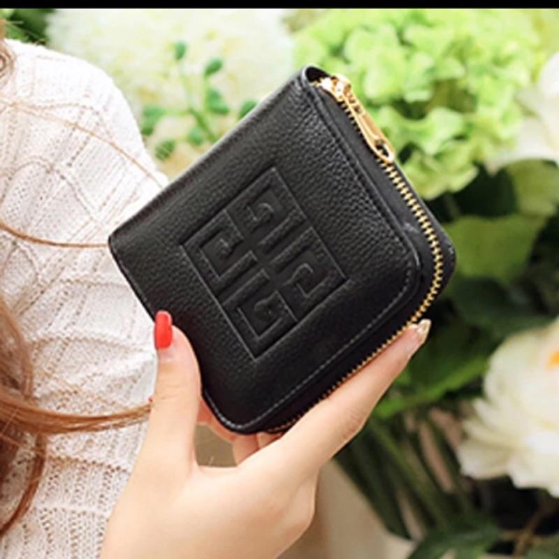 小錢包女短款拉鏈零錢包迷你卡包女式方皮夾