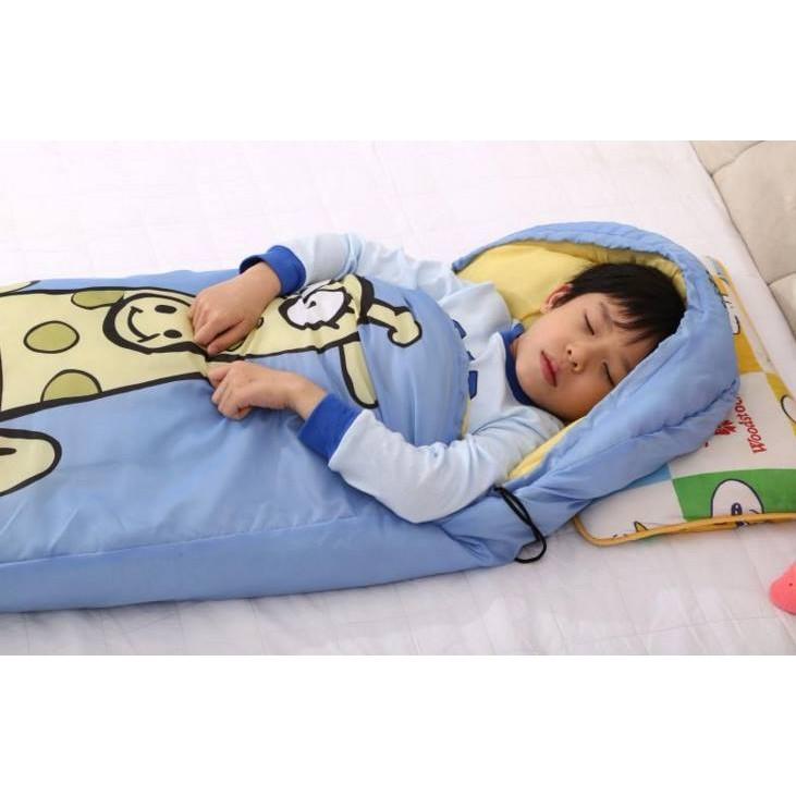 兒童睡袋睡袋露營睡袋保暖睡墊長頸鹿睡袋