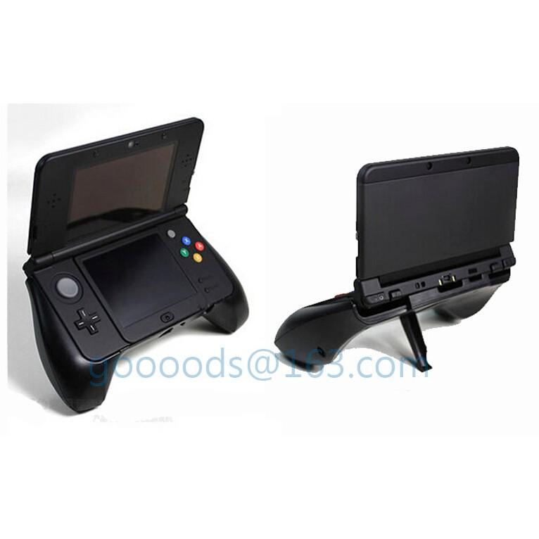 NEW 3DS 主機握把手把附支架 黑色新小三 L