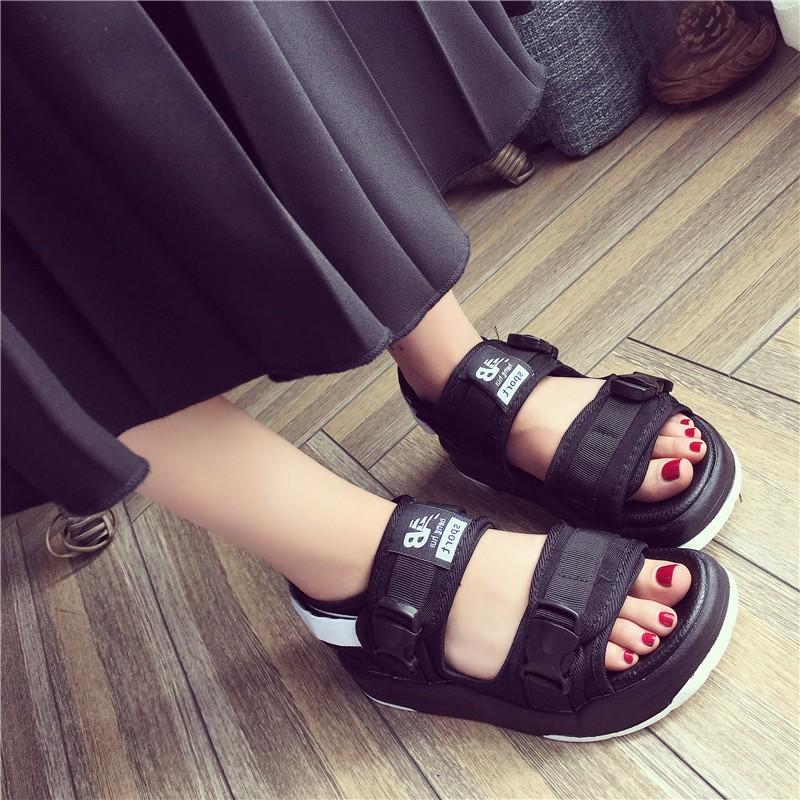 2016 新品韓國ulzzang 涼鞋原宿港風羅馬海灘男女情侶款平底鞋夏天