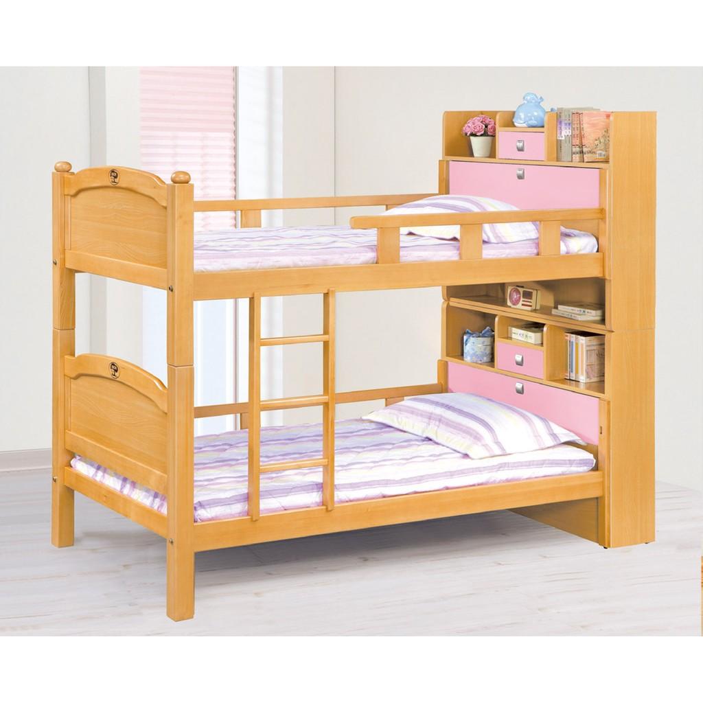 彩伊檜木色3 5 尺雙層床