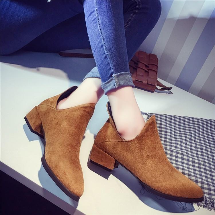 ☞☞☞ギケグ 2016 秋 中粗跟騎士靴厚底機車馬丁靴子百搭女英倫短筒靴潮