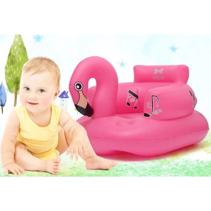 寶寶學坐充氣椅墊小沙發洗澡椅發聲音樂自動按壓充氣