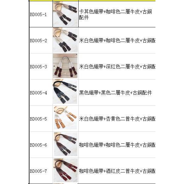 韓式真皮織帶提把(贈同色系手縫線)