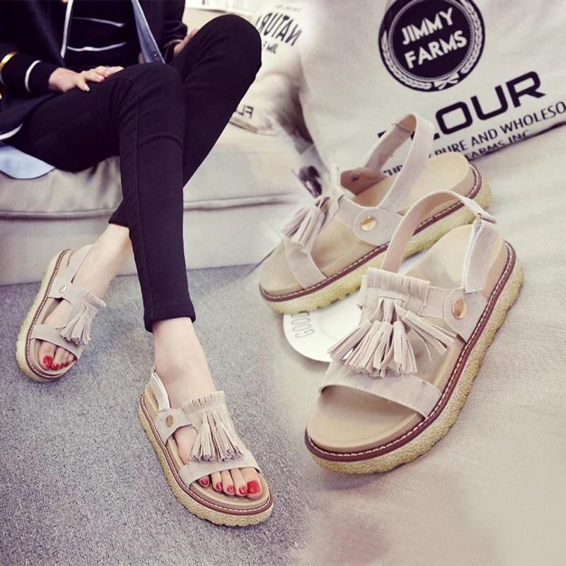 零碼鞋~羅馬復古流蘇、涼鞋、拖鞋