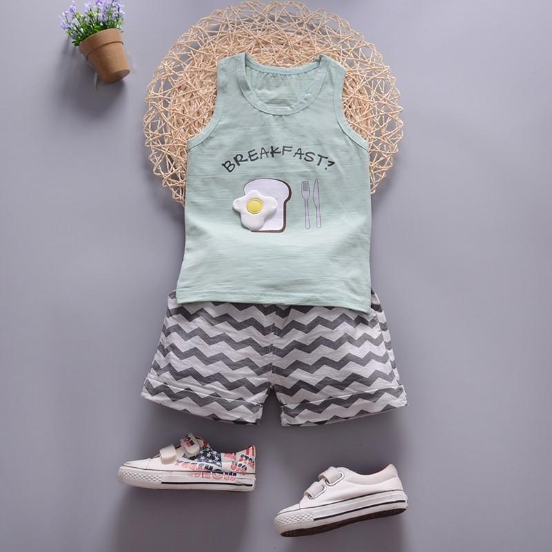 〖Beauty 韓國 服飾〗 潮寶寶 男童嬰兒 0 3 歲一周歲寶寶夏裝背心短褲8 個月小
