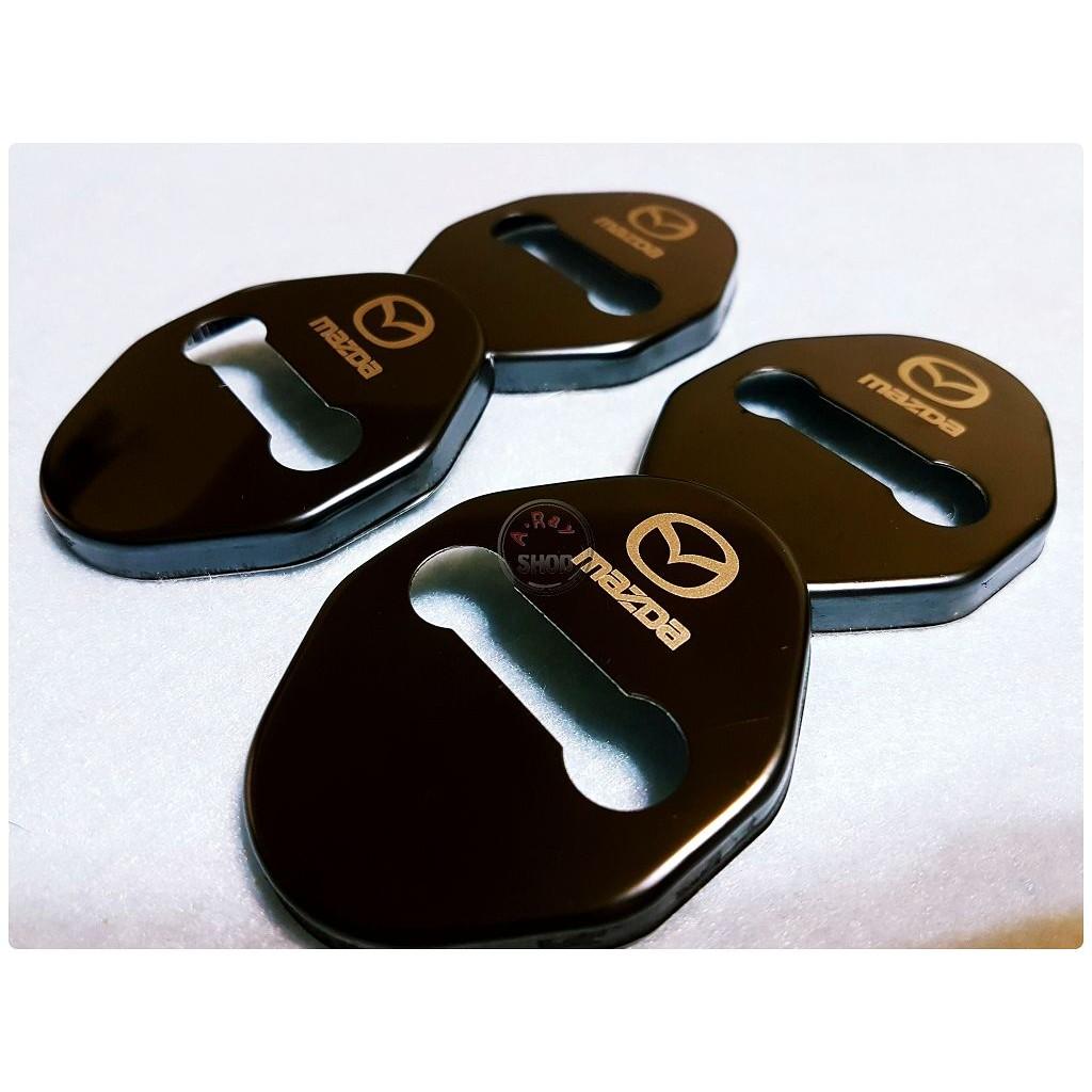 馬自達門鎖扣蓋MAZDA 2 3 5 6 CX 3 CX 5 六角鎖不鏽鋼車門保護蓋裝飾蓋