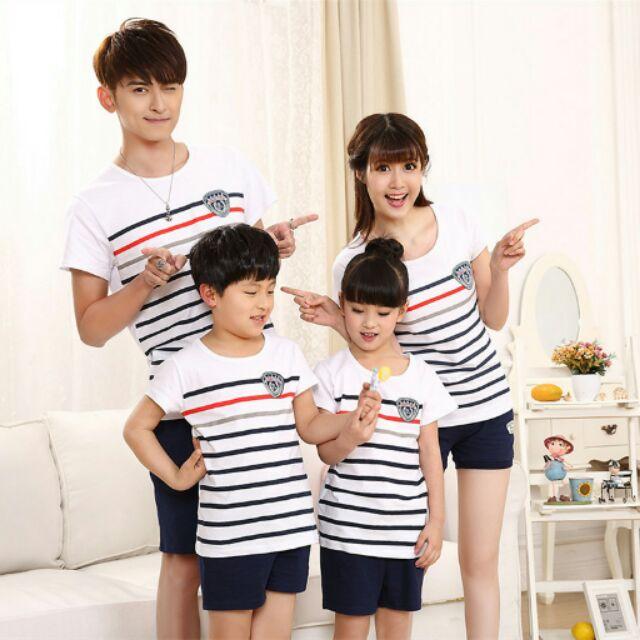 上衣褲子親子裝服飾夏裝純棉短袖T Shirt 一家三口母女母子裝