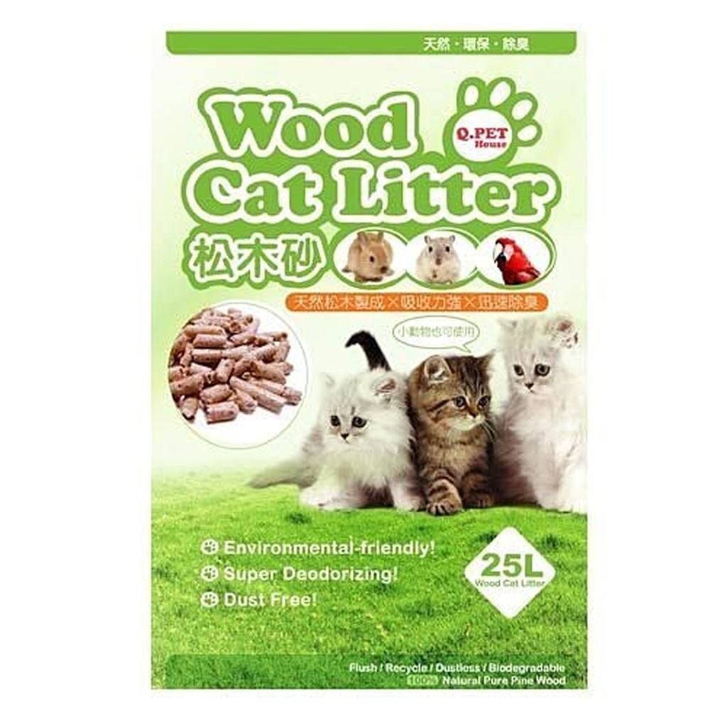 貓狗大王QPET Wood Cat Litter 松木砂25L 390 元包↓