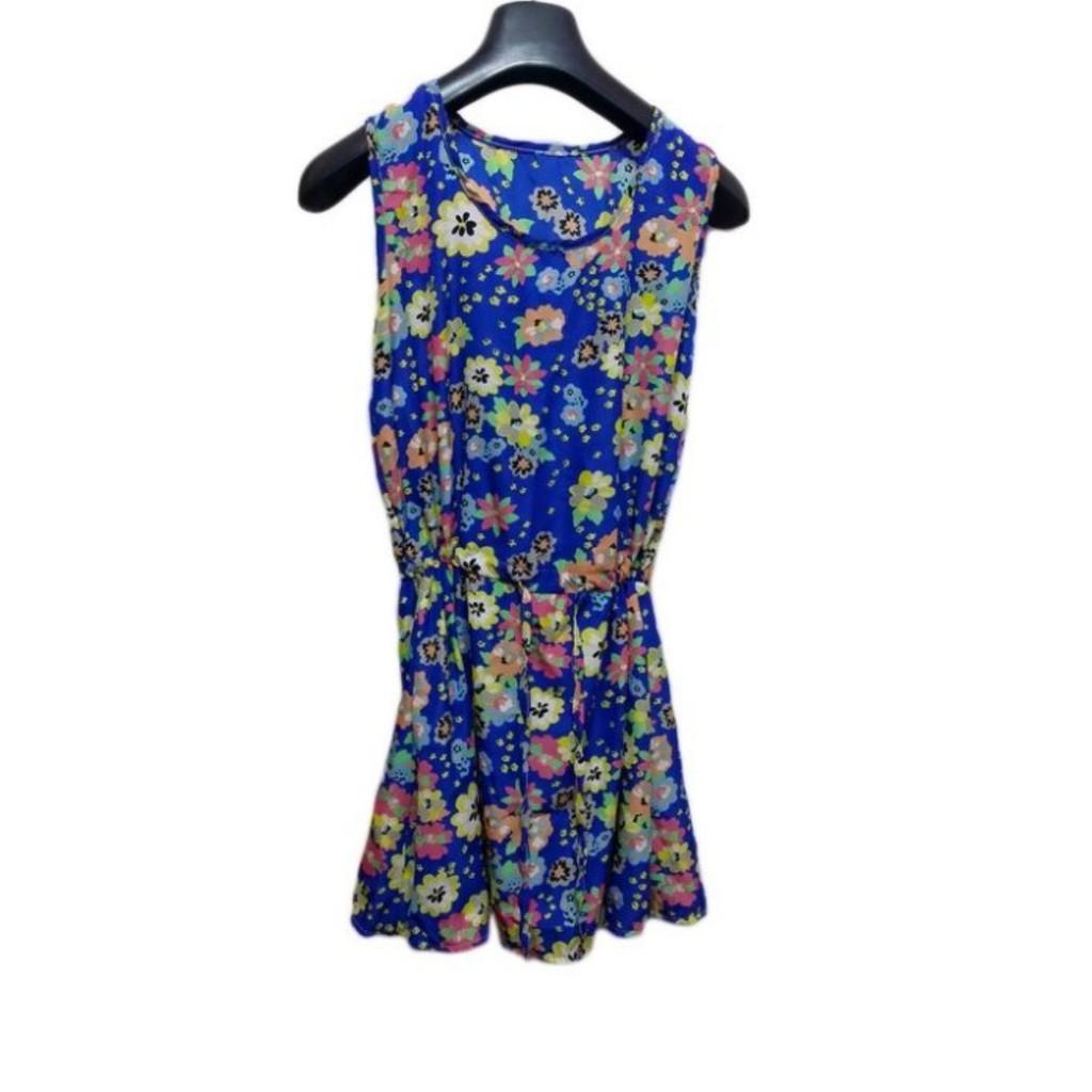 ~ ~夏天小碎花甜美洋裝收腰顯瘦輕盈涼感 約會穿搭海邊渡假泰國必穿無袖背心花朵洋裝上衣雪紡