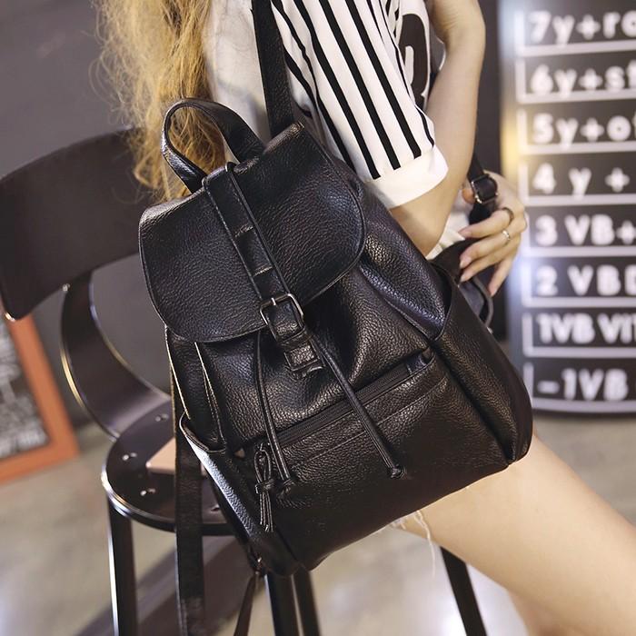 ❤❥웃유日韓之都秀鞋坊2016  雙肩包女水洗皮 女士背包潮流 學院風旅行包包