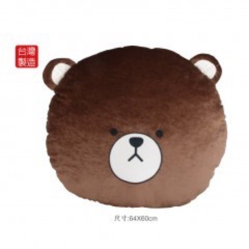 英國熊大圓枕