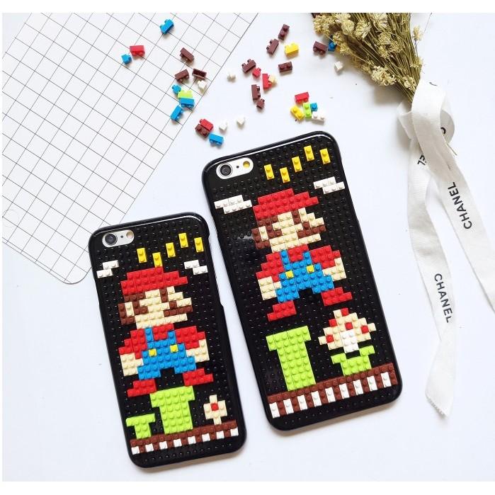 瑪莉兄弟瑪莉歐樂高積木ABS 高光硬殼蘋果iPhone6 6S 6Plus 手機殼