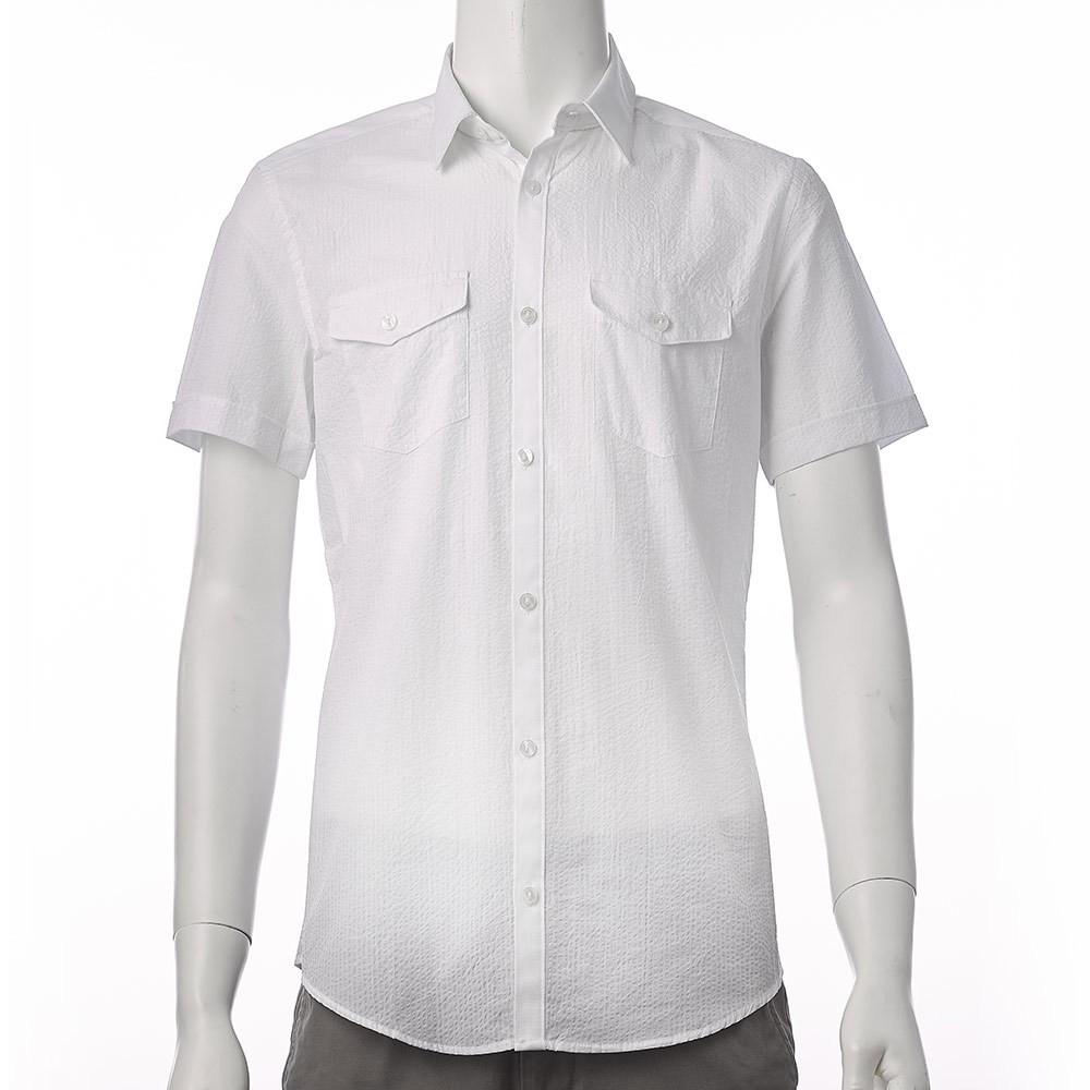 Calvin Klein CK 男短袖襯衫白Men s Short Sleeve Soli