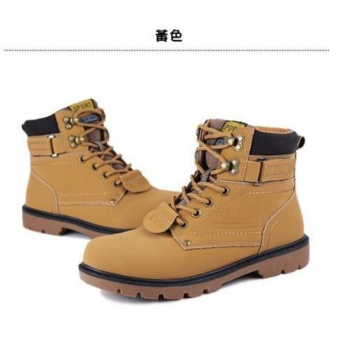 高 三色馬丁鞋馬丁靴雪靴馬靴靴子中筒防水男鞋休閒鞋~H047 ~
