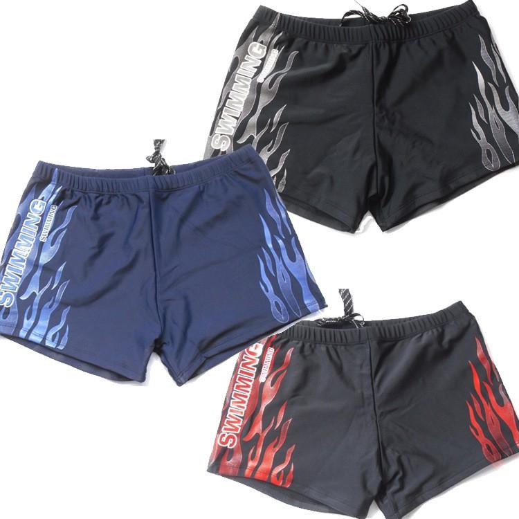 正品面料男士平角游泳褲高檔男式泳衣泡溫泉四角泳褲
