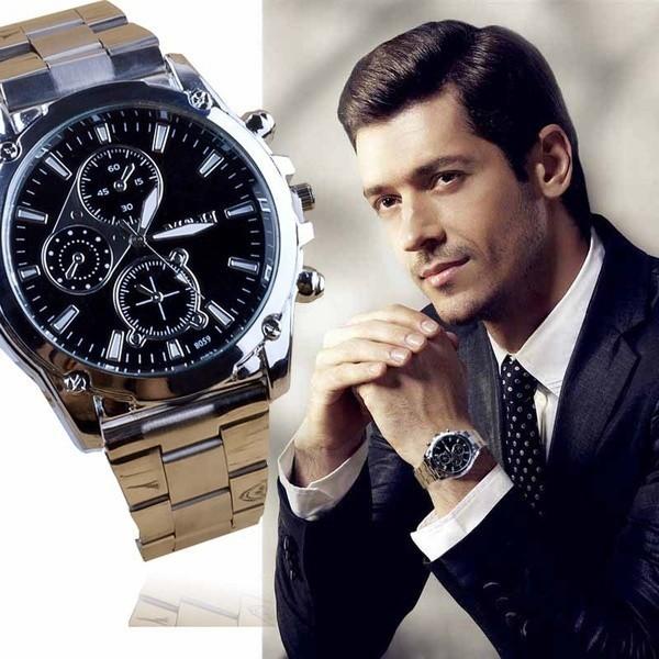 新 男士男士奢侈品防水不銹鋼帶手錶機械