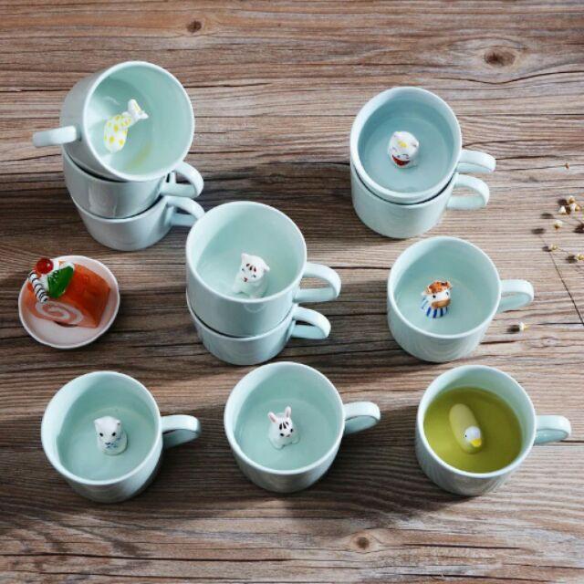 3D 杯可愛杯立體杯動物杯咖啡杯