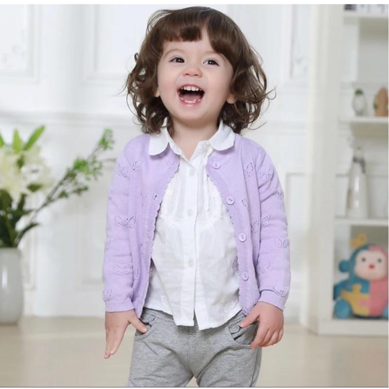 童装女童春夏裝 寶寶純棉小外套外套空調罩衫針織衫春夏百搭嬰兒衣服