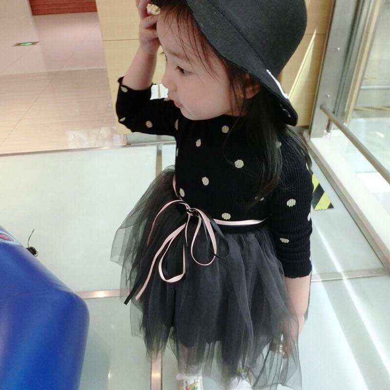 寶寶螺紋圓點上衣澎澎紗裙