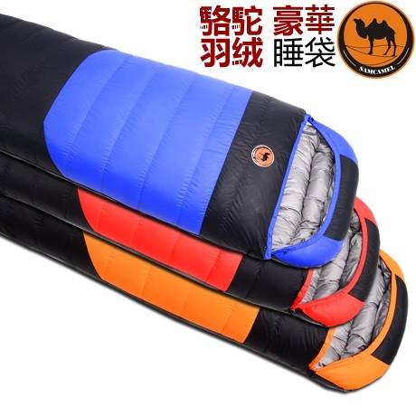 駱駝30 度羽絨睡袋 超輕鴨絨露營睡袋戶外保暖睡袋打工渡假