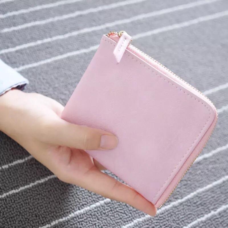 女士錢包短款日 拉鍊手包迷你零錢包小手拿包學生硬幣包薄款
