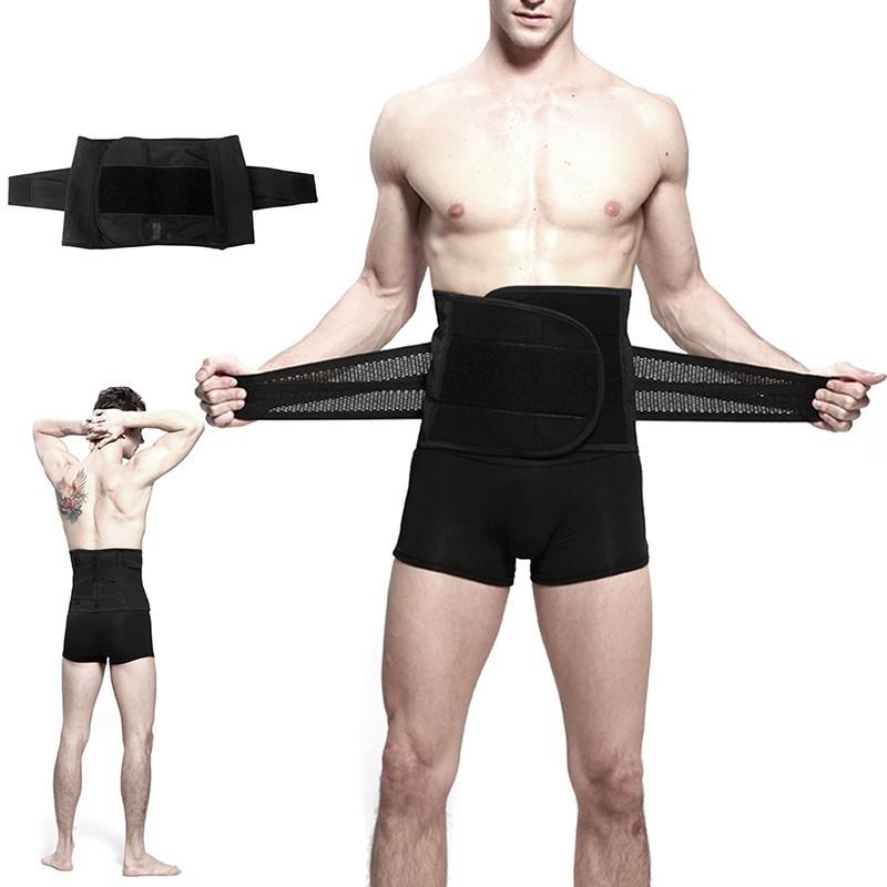 niceEshop 男士可調式腰帶,男士收腹帶黑色