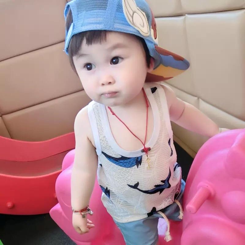 寶寶背心夏兒童吊帶男嬰兒男童夏裝小童 無袖潮薄款1 3 歲0