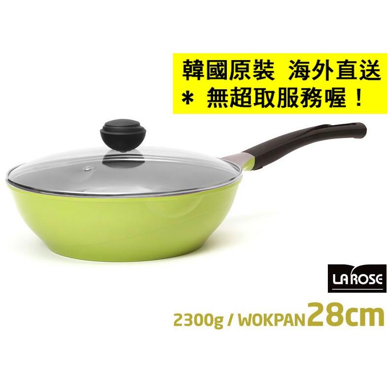 ~韓國 直送~Chef Topf 薔薇系列28 cm 不沾炒鍋鍋蓋La Rose 玫瑰鍋煎